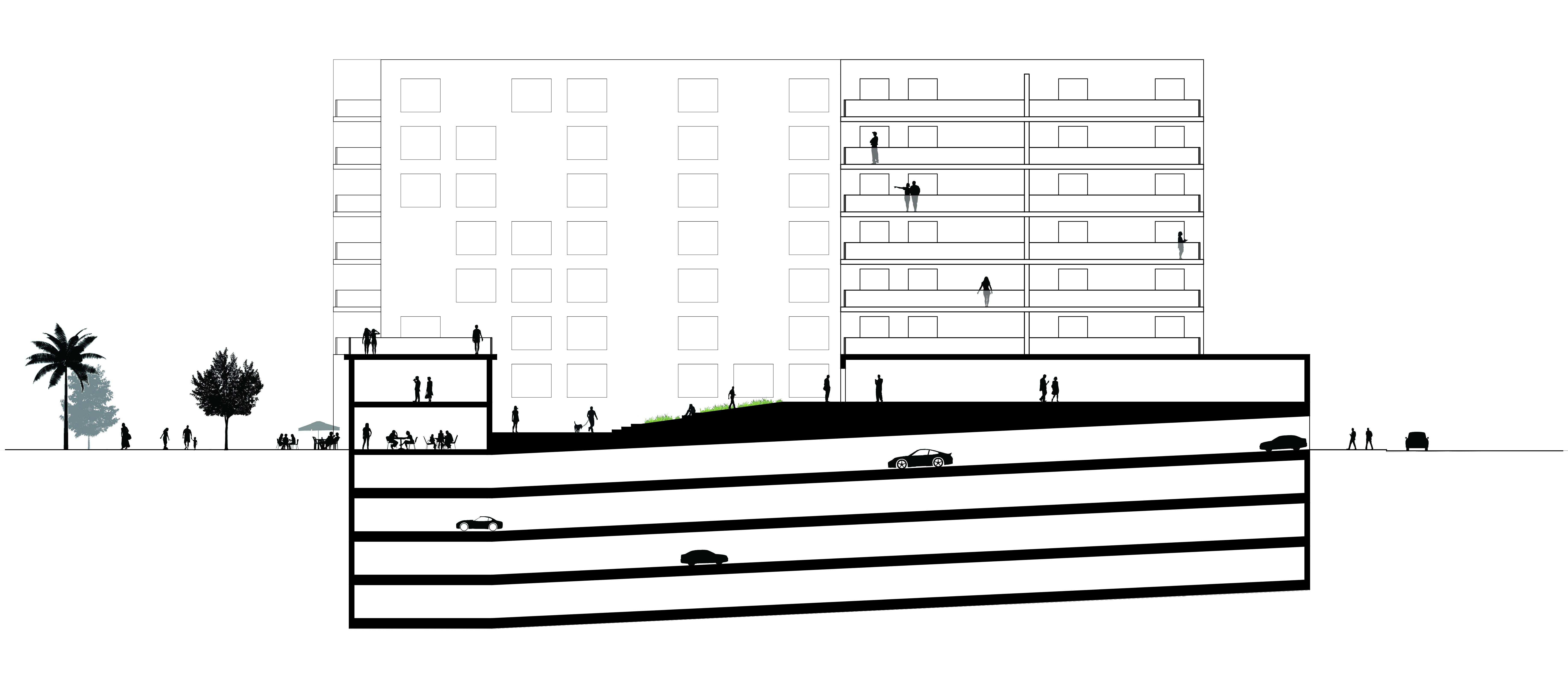 Pics For Basement Parking Detail Section